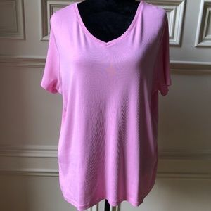 Pink Cotton Talbots Tee